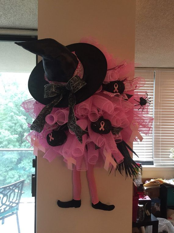 Breast Cancer Awareness Halloween Mesh by CraftyMommyTwoFour7