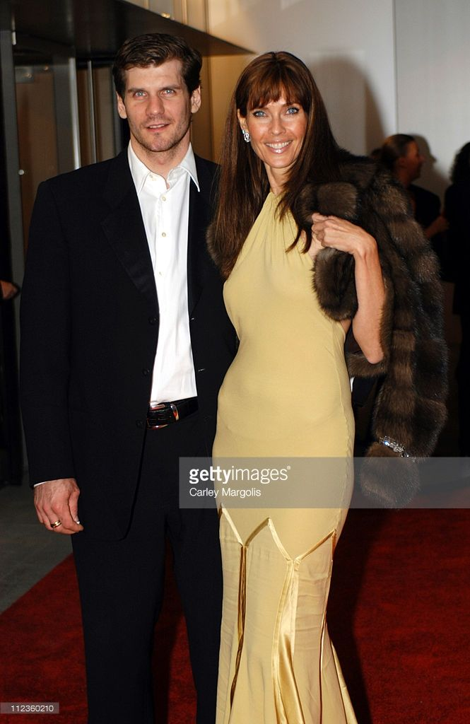 Alexi Yashin and Carol Alt during The Museum of Modern Art Re-Opens in Midtown Manhattan at Museum of Modern Art in New York, New York, United States.