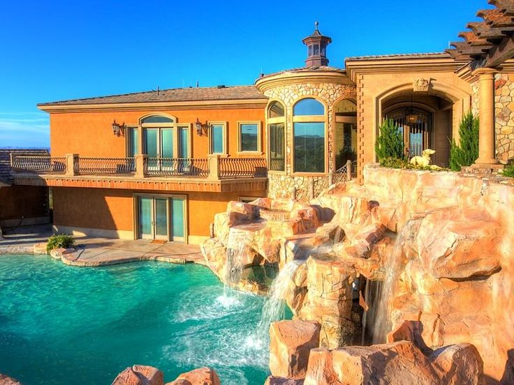 Balcony Swimming Pool. See More. HOUSE OF THE DAY: A Crazy Boulder City Home  With A Water Slide And Lazy