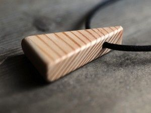 Recycled Oregon triangle pendant.