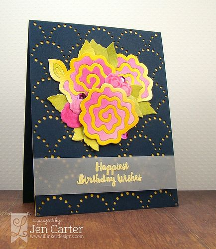 Jen Carter Navy Quilted Flowers Bday Side 1.2 wm | by JenDCarter