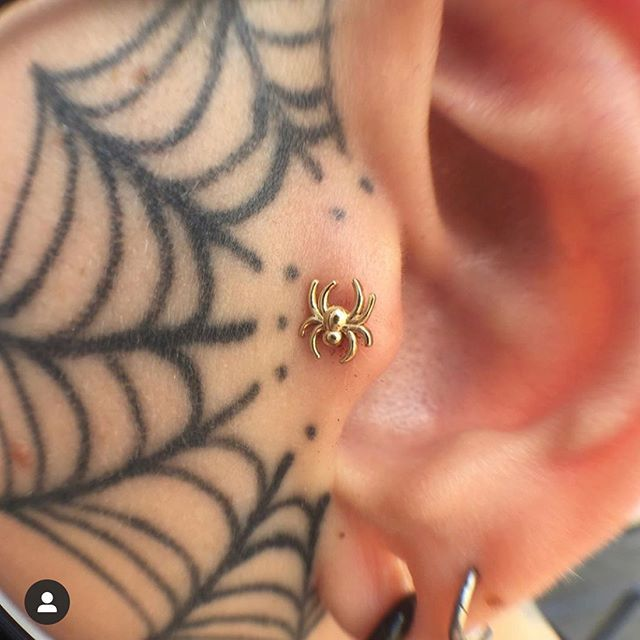 Dont Forget Our Piercing Shop Is Located Separately At 503 Euclid Ave Head On Down To See The Lovely Meatsaque Petra Steel In 2020 Life Tattoos Web Tattoo Tattoos
