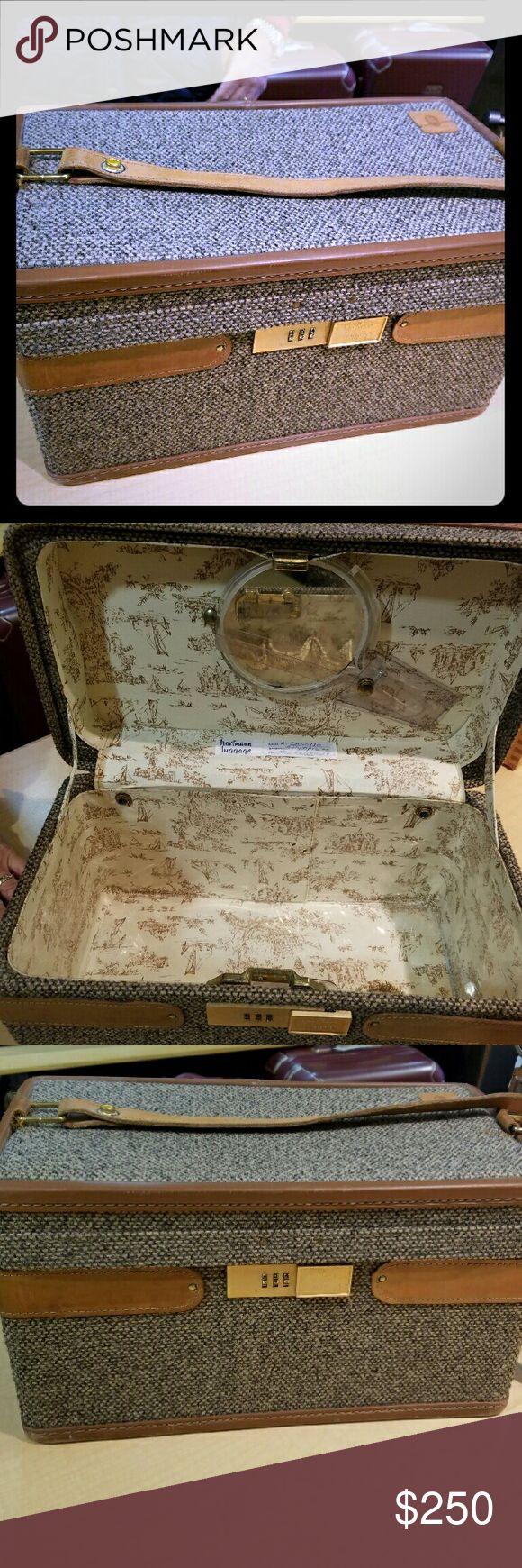 Hartmann Tweed Cosmetic Train Case Vintage Tweed Traincase Hartmann  Bags