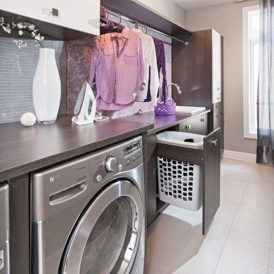 Un modèle d'organisation dans la salle de lavage - Salle de bain - Inspirations - Décoration et rénovation - Pratico Pratique