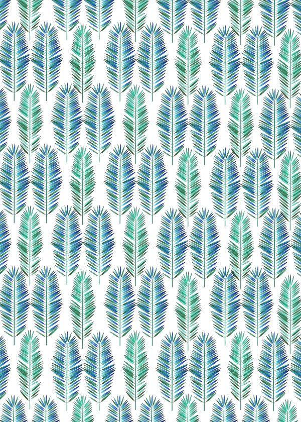 """""""Tropical Leaves"""" metal poster by Noel del Mar #pattern"""