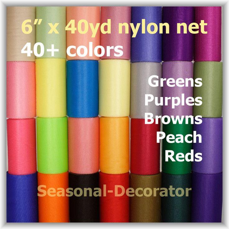 "Scrubby Nylon Net 6"" 40yd. Spool (Second Half Of 40 Colors)"