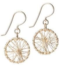 Dreamcatcher. 14kt gold fill earrings from SEOIDIN.