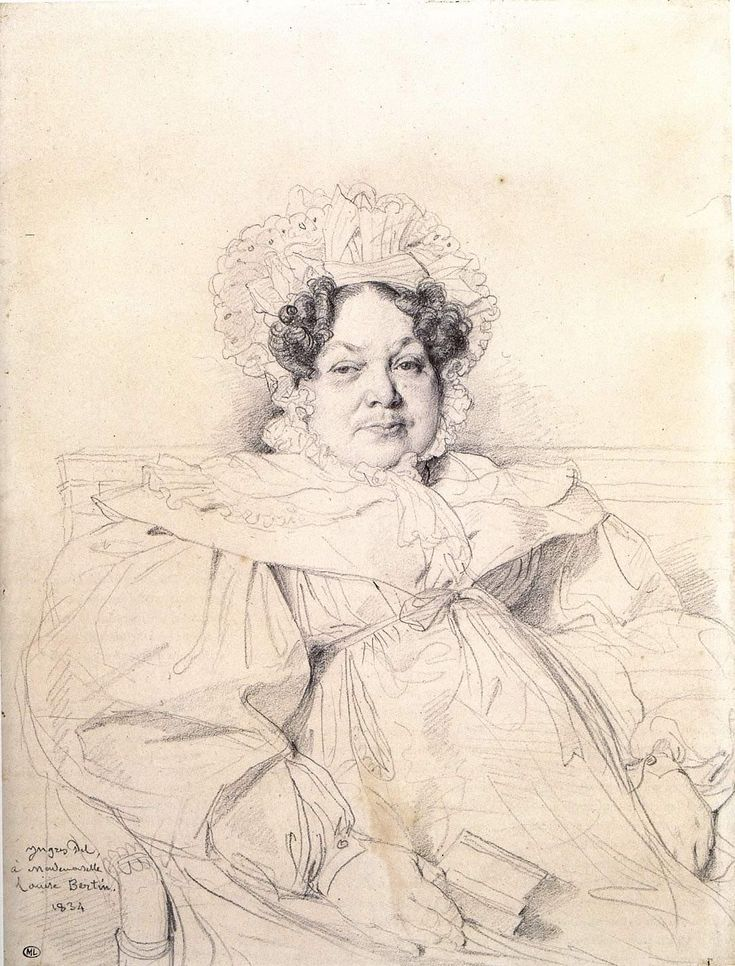 Jean Auguste Dominique Ingres (1780-1867) Madame Louis­Francois Bertin Pencil on paper 1834