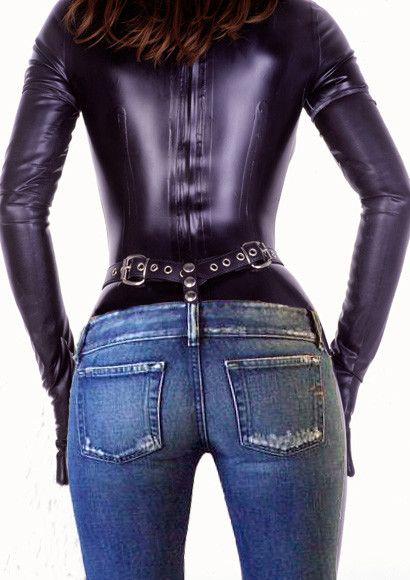 фетиш через джинсы