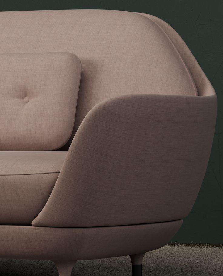 Render by Isabel Barrena. Studio lighting test with Fritz Hansen's Favn sofa. #render #vray #3dsmax #product