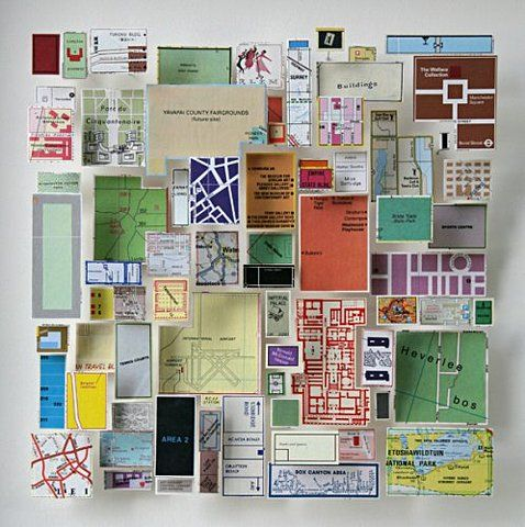 swissmiss: Chris Kenny | Construction with map pieces