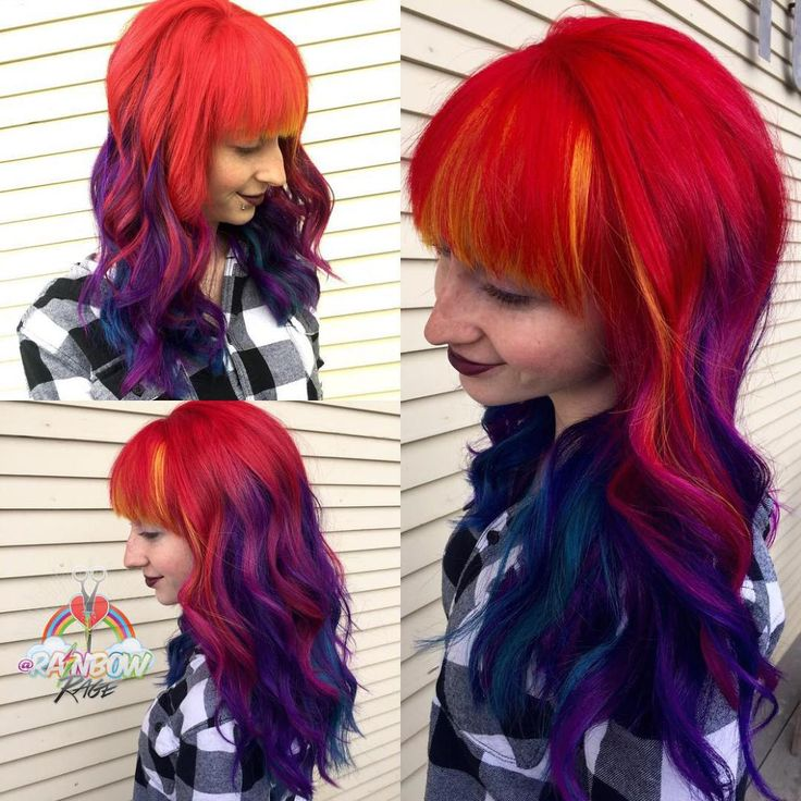 red and purple hair styles top 25 best bright hairstyles ideas on 8184 | 47d011f7ea0cb822b124988ba855009e