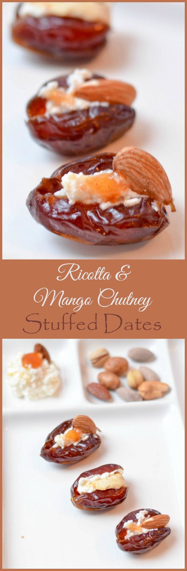 Need a delicious holiday appetizer that brings a bit of culture to your party? Try our Ricotta & Mango Chutney stuffed dates!