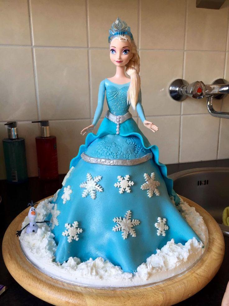 Elsa Frozen taart