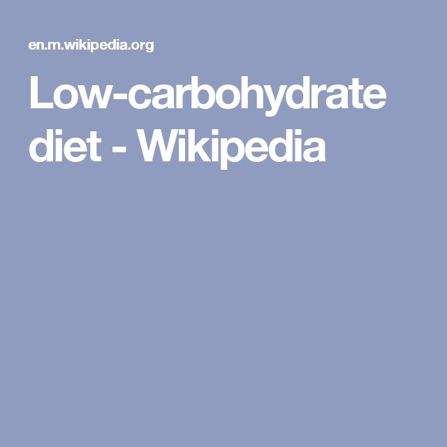 Low-carbohydrate diet - Wikipedia