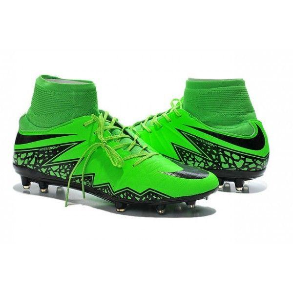 2015 Nike HyperVenom Phantom II FG Football Boots Green Black