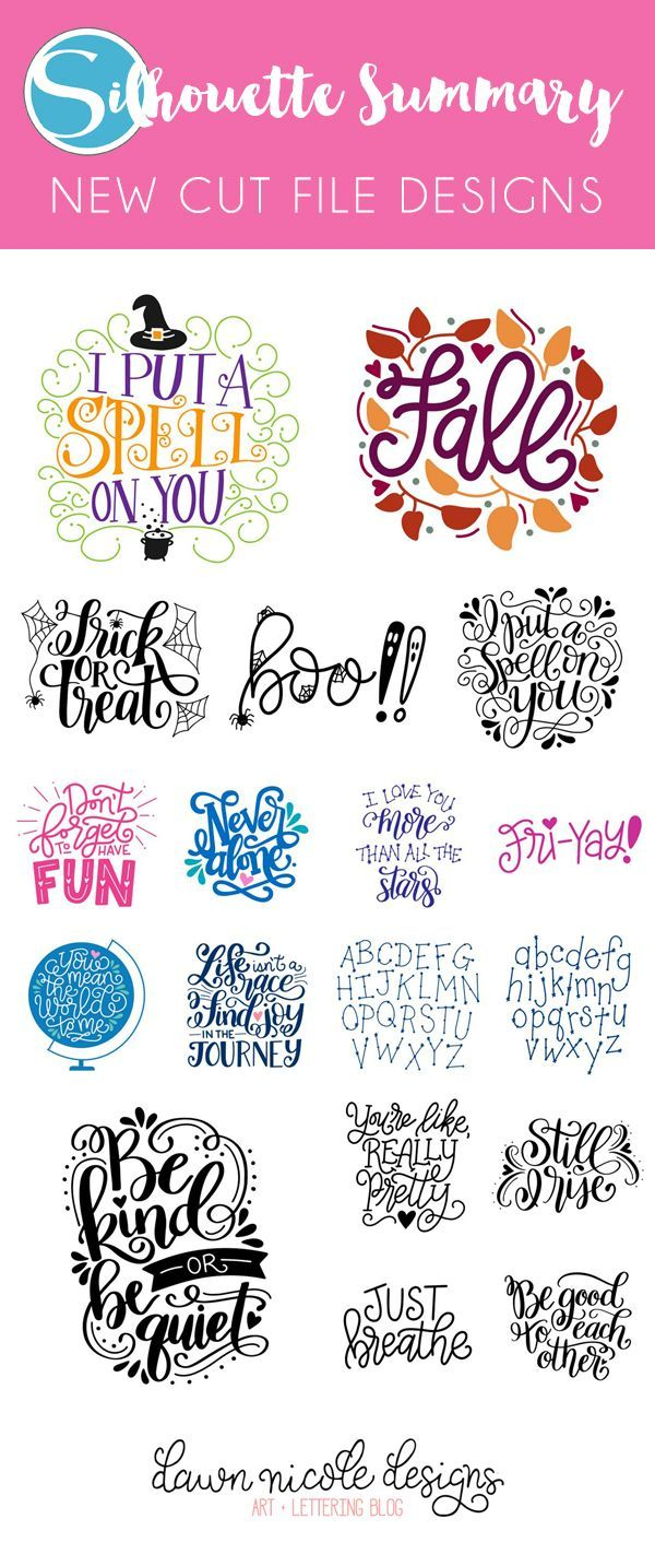 Silhouette Summary: August's New Cut File Designs | Dawn Nicole » Silhouette Cameo projects | Bloglovin'