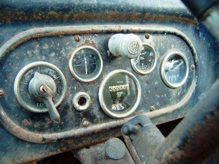 original and unrestored dash panel