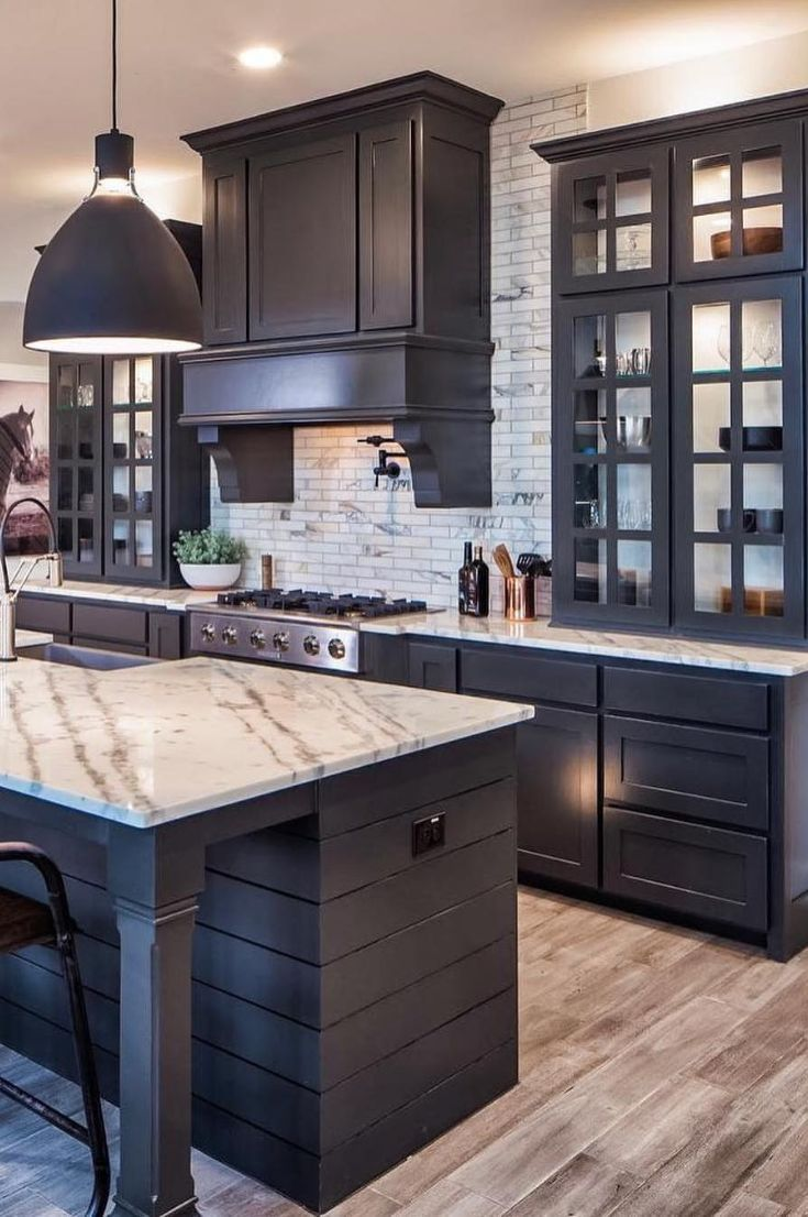 45 Modern Kitchen Design Ideas That Use Unconventional Geometry New 2019 Page 34 Of 45 Clear Crochet In 2020 Kitchen Cabinet Inspiration Rustic Kitchen Design Kitchen Cabinet Design