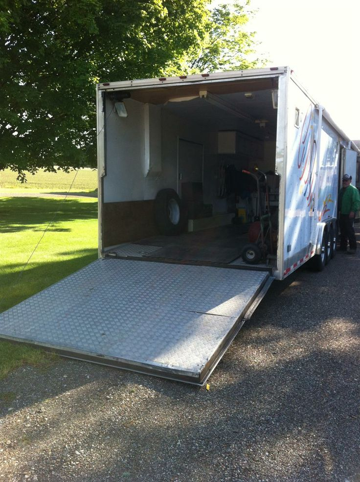 www.m37auction.com: 45 Foot Car Hauling Cargo Trailer with Full Living Quarters and 5000 Watt Generator