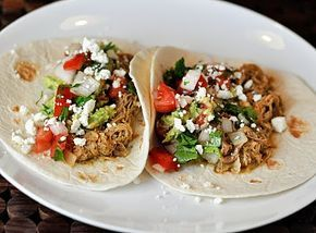 Crockpot green chili pork tacos- these were amazing.  The little touches like fresh cilantro and feta added something special, and the meat was the most tender meat I've ever cooked!