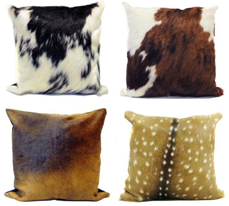 Cow hide pillows