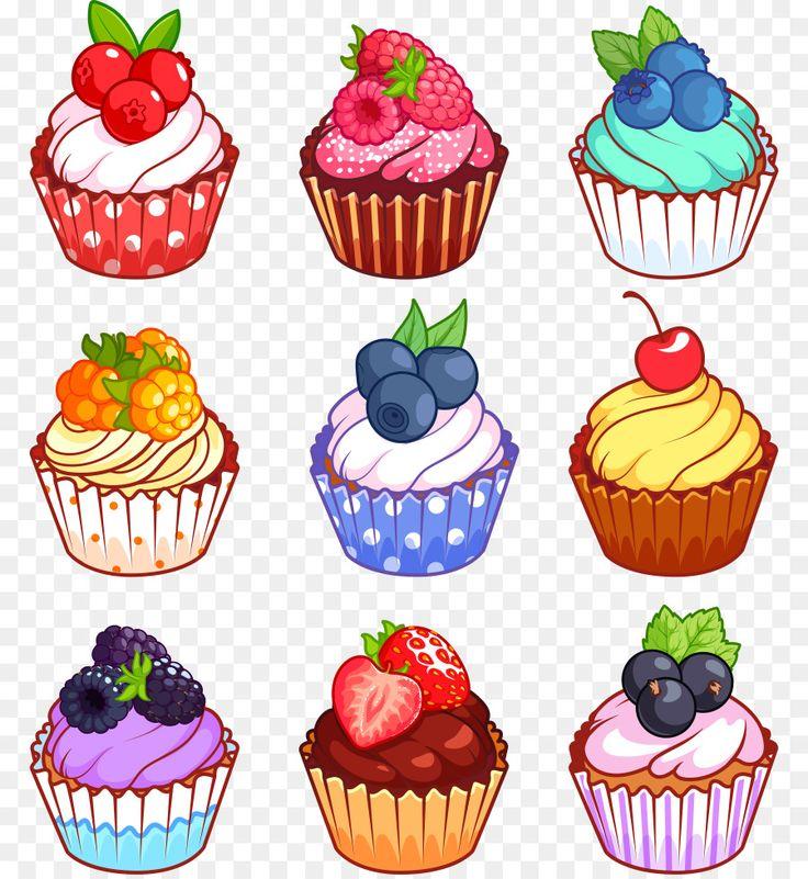 Днем рождения, кекс картинки вектор