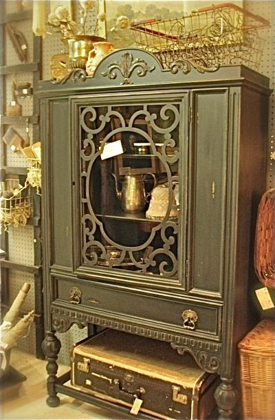 armoire...painted with Annie Sloane Graphite Chalk Paint  The Gilded JunqueYard