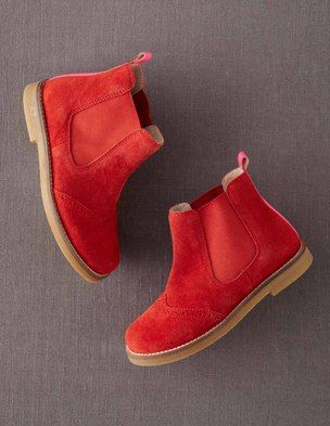 I've spotted this @BodenClothing Suede Chelsea Boots Candy Apple Red