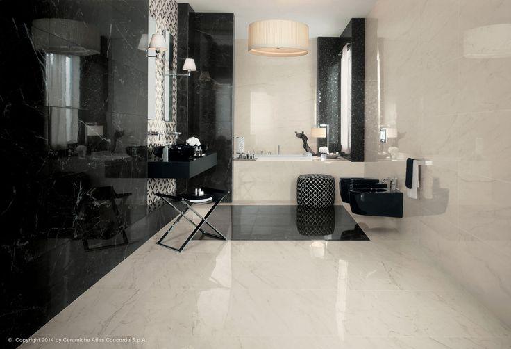 Carrelage pour sol / en grès cérame / poli / aspect marbre - MARVEL PRO FLOOR - Atlas Concorde - Vidéos