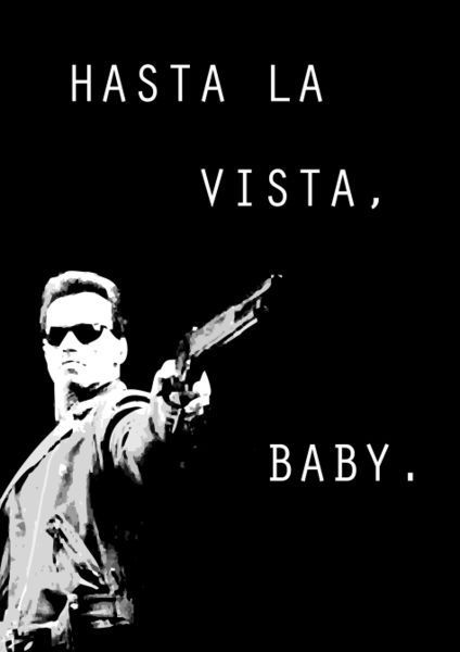 Hasta La Vista, Baby ;) Trav used to use this expression heaps as a youngster