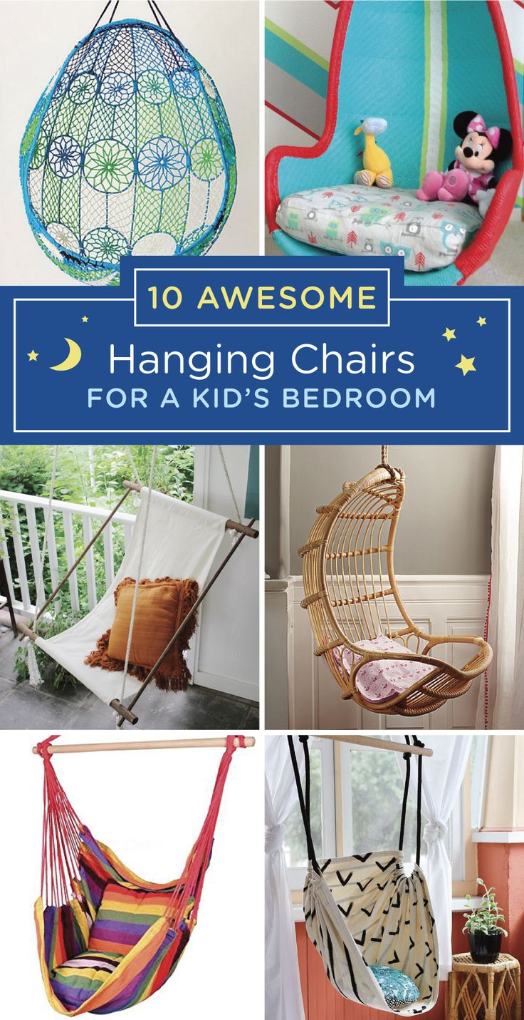 kids hanging chair for bedroom%0A Your kid u    s bedroom should be as fun as she is  Check out these indoor  hanging chairs for a fun way to dress up your child u    s room