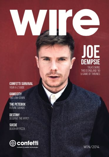 Wire winter edition with Joe Dempsey for student life in Nottingham at Confetti