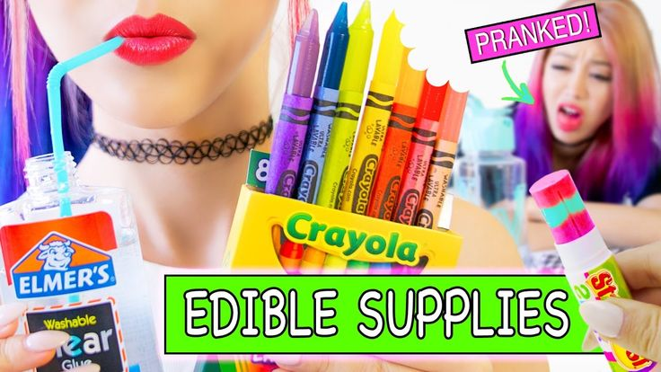 This is a weird DIY project for edible school supplies haul and it's the best prank for back to school.