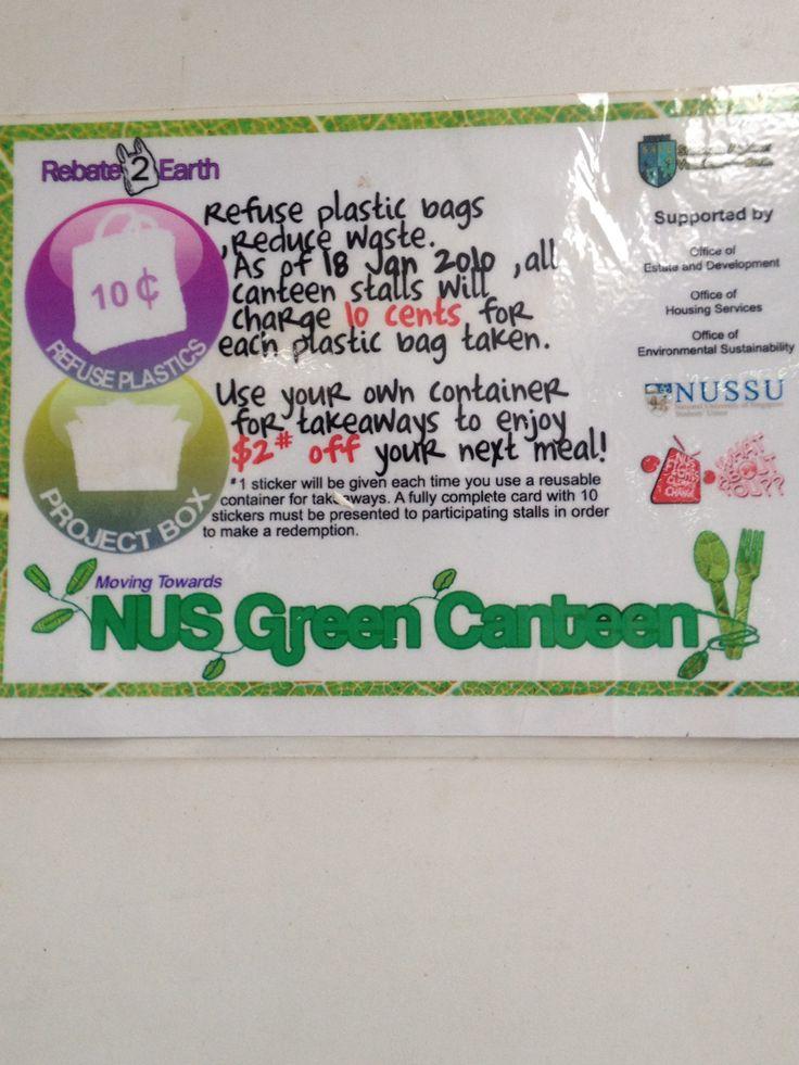 Green canteen poster