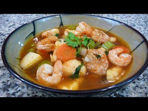 Mexican Shrimp Soup Recipe, easy delicious family recipe, - YouTube
