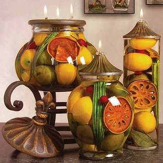 121 best images about candles candlesticks on pinterest mercury glass easter candle and tea - Decorative fruit jars ...