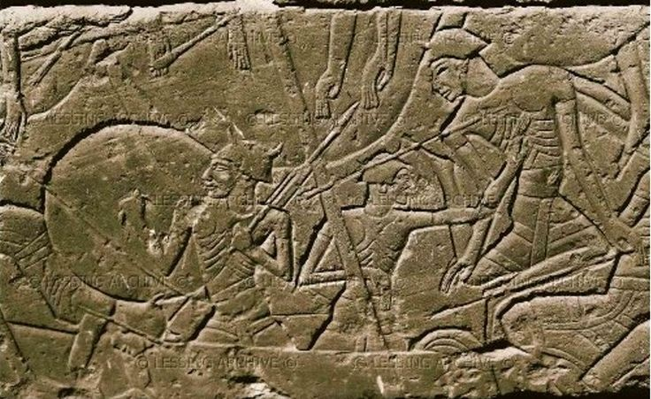 The Sea Peoples approached Egypt as a mass of migration from both sea and land