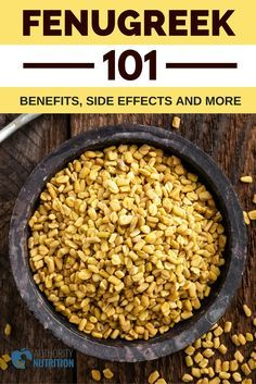 Fenugreek is a natural herb and supplement that has many benefits for your health. Learn more about fenugreek's benefits, safety and side effects here: https://authoritynutrition.com/fenugreek/