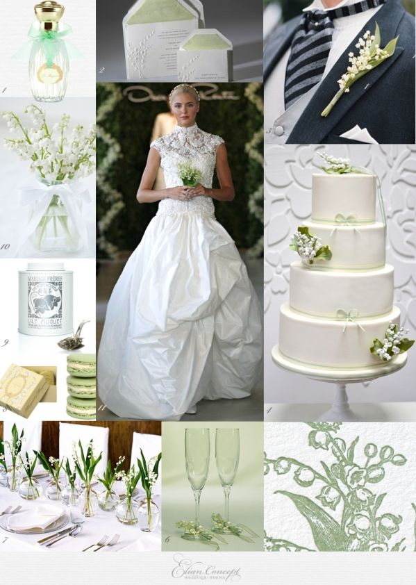 Lily of the Valley Inspiration Board...such a simple flower but the smell is amazing!!