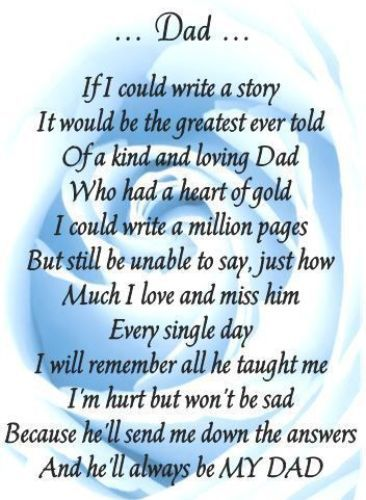fathers day verses deceased dads