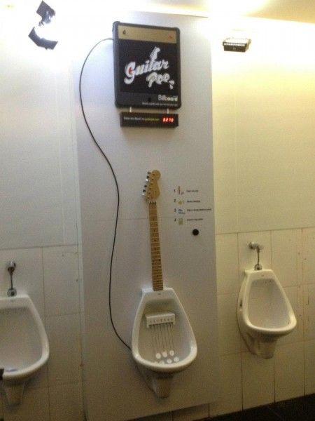 おしっこでギターを奏でるプロモーション