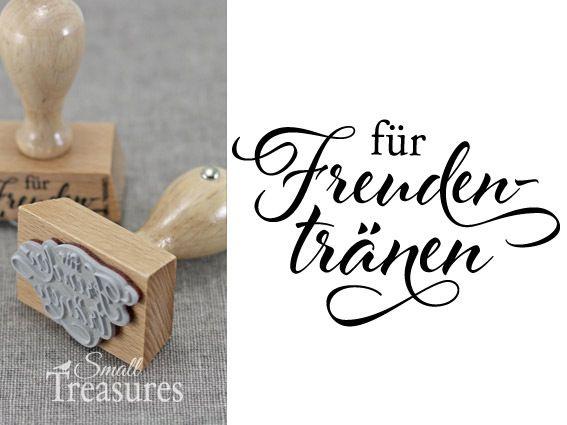 """Gastgeschenke - Stempel """"für Freudentränen"""" - ein Designerstück von smalltreasures bei DaWanda"""