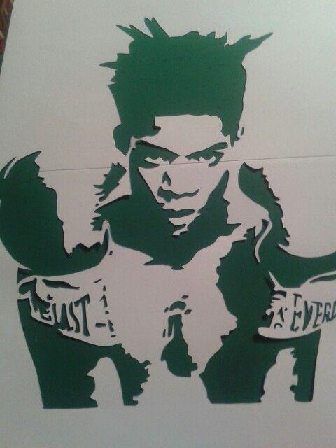 Basquiat Stencil Cut Abstract Graffiti Work In Progress