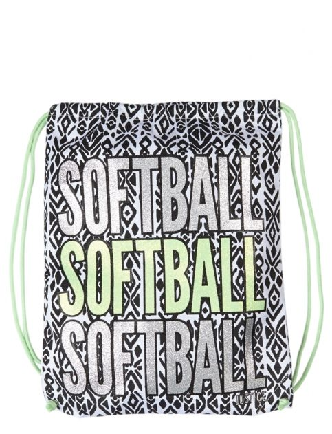 Softball Drawstring Tote | Girls Totes & Duffles Bags & Luggage | Shop Justice