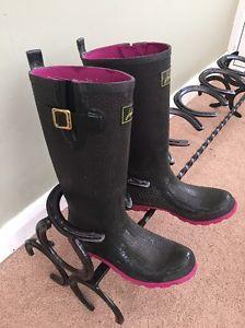 Wellington Boot Rack Handmade Recycled Horseshoes  | eBay