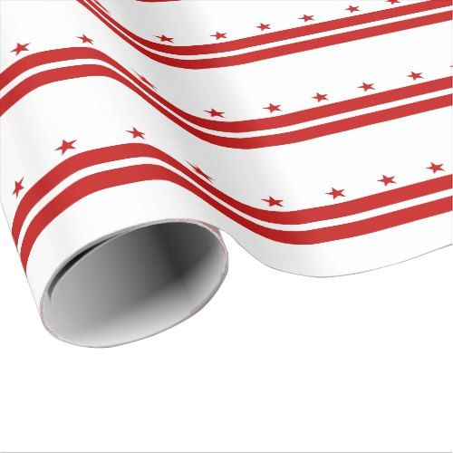 Patriotic Washington Dc State Flag Wrapping Paper Patriotic Washington Dc Flag Washington Dc State