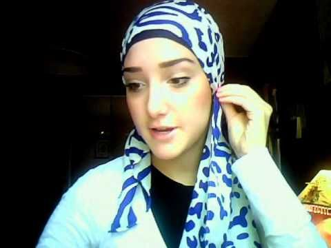 ▶ Hijab Tutorial #6 (Blue Zibra Wrap) - YouTube