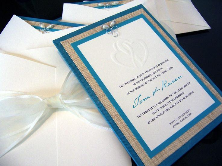 Beach Wedding Invitation