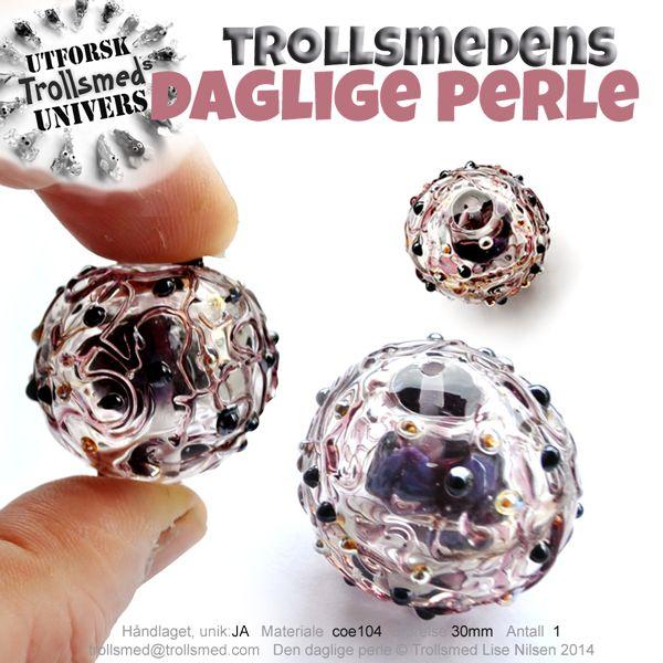 Bead in bead from Trollsmed Lampwork beads, Norway, filigree, porcelain beads. Find me at Facebook  http://www.facebook.com/trollsmeden Trollsmed Lise Nilsen http://www.trollsmed.com